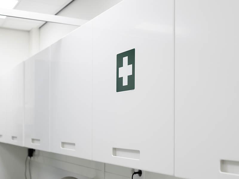 Groen kruis eerste hulp
